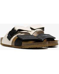 eb93b05ba Rick Owens - X Birkenstock Black And White X Birkenstock Babel Sandals -  Lyst