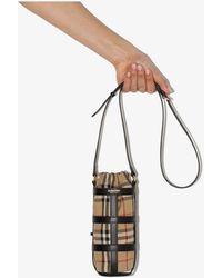 Burberry Vintage Check Water Bottle Holder - Black