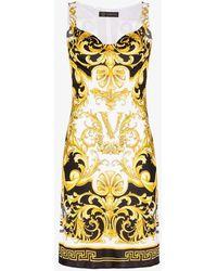 Versace Baroque Print Mini Dress - Black