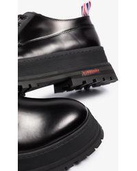 Burberry Jefferson Leather Derby Shoes - Black