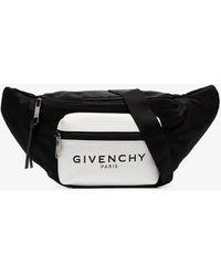 Givenchy Black And White Logo Print Belt Bag