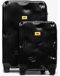 Crash Baggage Stripe Cabin Suitcase Set - Black