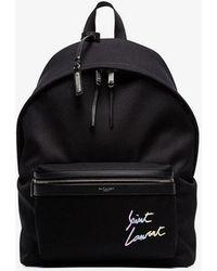 Saint Laurent - Logo City Backpack - Lyst