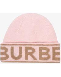 Burberry Logo Beanie - Pink