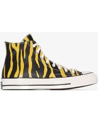 Converse 70's Archive Print Chuck Taylor Hi Trainers - Yellow