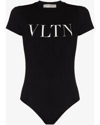 Valentino Vltn Logo Bodysuit - Black