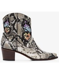 Sophia Webster - Snake Print & Rainbow Multicoloured Shelby 50 Snake Print Leather Cowboy Boots - Lyst