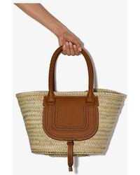 Chloé Small Marcie Basket - Brown