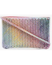 Christian Louboutin - Multicoloured Unicorn Spike Leather Clutch Bag - Lyst