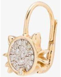 Yvonne Léon 18k Cat Diamond Earring - Metallic