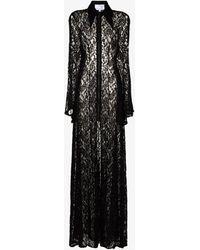 Natasha Zinko Lace Maxi Dress - Black