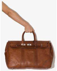 Brunello Cucinelli Top-handle Leather Holdall Bag - Brown