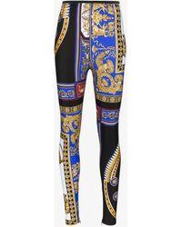 Versace - The Lovers High Waisted Print Skinny Leggings - Lyst