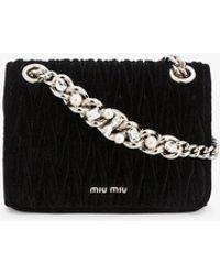Miu Miu 'club' Matelassé Shoulder Bag - Black