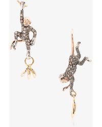 Bibi Van Der Velden   18k Rose Gold Monkey And Banana Earrings   Lyst