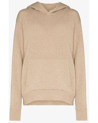 Les Tien Knitted Cashmere Hoodie - Brown