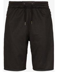 Givenchy Ticker Logo Stripe Track Shorts - Black