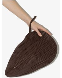 Neous Pluto Leather Clutch Bag - Brown