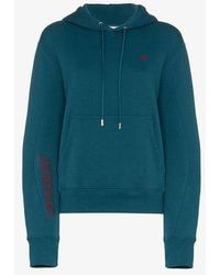 GmbH - X Browns Dag Cropped Embroidered Hooded Jumper - Lyst