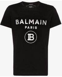 Balmain Foil Logo T Shirt - Black