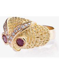 18-karat Gold, Agate And Diamond Ring - 52 Yvonne Léon