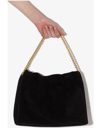 Neous Orbit Suede Shoulder Bag - Black