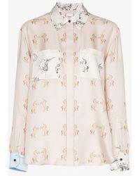 Burberry - Alexa Dancing Unicorn Print Silk Shirt - Lyst