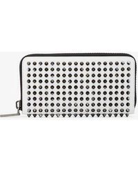 Christian Louboutin - White Panettone Stud Embellished Leather Wallet - Lyst