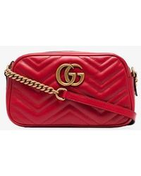 Gucci - Small Gg Marmont 2.0 Matelasse Leather Camera Bag - Lyst