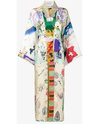 Rianna + Nina - Multi-print Long Kimono Jacket - Lyst