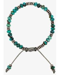 M. Cohen Templar Beaded Bracelet - Blue