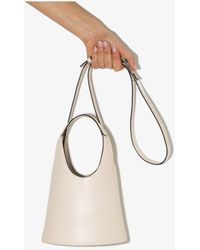 STAUD Neutral Timmy Leather Bucket Bag - Multicolour