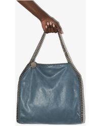 Stella McCartney Falabella Small Faux Leather Tote Bag - Blue