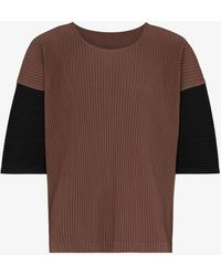 Homme Plissé Issey Miyake Block Plissé T-shirt - Brown