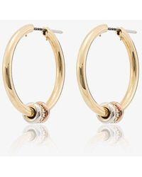 Spinelli Kilcollin Metallic 18k Yellow Gold Diamond Hoop Earrings