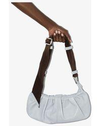 Ganni Light Small Leather Shoulder Bag - Blue