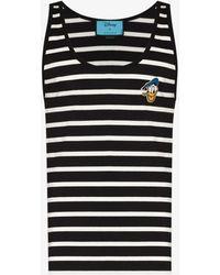 Gucci X Disney Donald Duck Striped Vest - Black