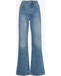 Paco Rabanne High Waist Flared Jeans - Blue