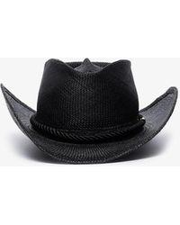 Gladys Tamez Millinery Zuma Straw Panama Hat - Black