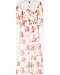 Masterpeace Collared Floral Print Dress - Pink