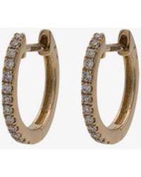 Jacquie Aiche - 14k Yellow Gold Mini Diamond Pavé Hoop Earrings - Lyst