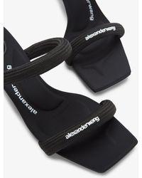 Alexander Wang Jessie 55 Tubular Leather Sandals - Black