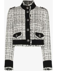 Dolce & Gabbana - Cropped Tweed Jacket - Lyst
