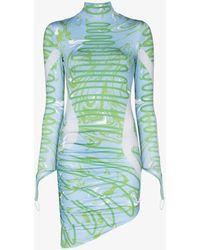 Maisie Wilen Orbit City Printed Mini Dress - Blue
