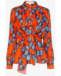 Carolina Herrera Floral Print Shirt - Orange