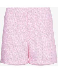 Orlebar Brown - Setter Camellia Themis Print Swim Shorts - Lyst