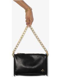 MANU Atelier Chain-trim Leather Crossbody Bag - Black