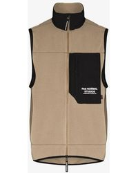 Pas Normal Studios Neutral Off Race Fleece Gilet Jacket - Multicolor
