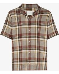 Lou Dalton Checked Short Sleeve Shirt - Brown