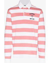 BBCICECREAM Heart And Mind Striped Polo Shirt - Pink
